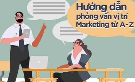 Hướng dẫn phỏng vấn vị trí Marketing từ A đến Z