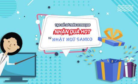 Tạo hồ sơ trên iconicJob – Nhận quà HOT từ Nhật ngữ SANKO