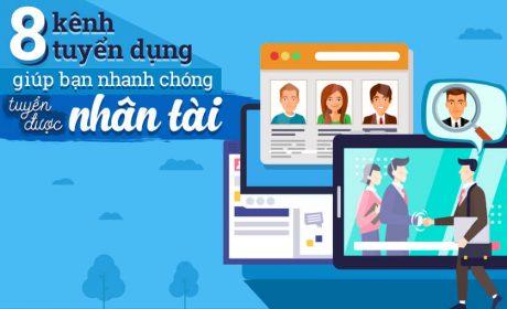 8 kênh tuyển dụng giúp bạn nhanh chóng tuyển được nhân tài