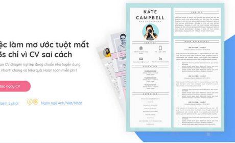 16 Công cụ CV Tool miễn phí để tạo mẫu CV xin việc
