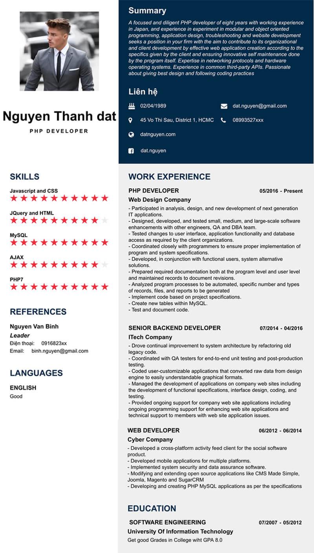 CV xin việc PHP Developer