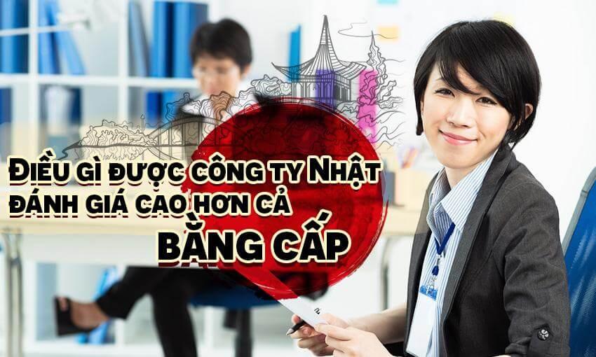 Điều gì được công ty Nhật đánh giá cao hơn cả bằng cấp?