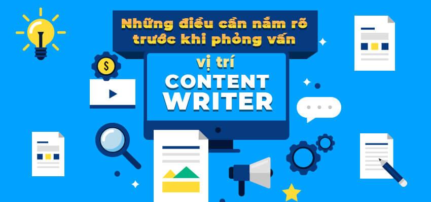 Content Writer là gì? Cần biết gì khi phỏng vấn vị trí Content Writer